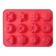 Walmer Форма для выпечки Bakery, 32.5х24.5х4 см, 12 кексов, красная