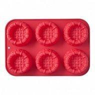 Walmer Форма для выпечки Basket, 31х21х3.5 см, 6 кексов, красная