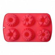 Walmer Форма для выпечки Muffins, 29.5х17.5х3.8 см, 6 кексов, красная