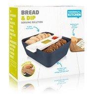 Tomorrow's Kitchen Сервировочный набор для хлеба и закусок, 24х10.5 см, синий