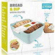 Tomorrow's Kitchen Сервировочный набор для хлеба и закусок, 24х10.5 см, голубой