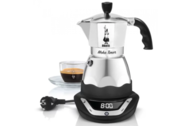Bialetti Гейзерная кофеварка электрическая Moka Timer (240 мл), на 6 чашек (6093)