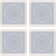 Garnier-Thiebaut Набор салфеток, 54х54 см, 4 шт., серый