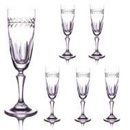 Cristal de Paris Набор бокалов для шампанского (200 мл), 21.5 см, 6 шт.