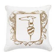 Trussardi Подушка декоративная Casato, 60х60 см, слоновая кость