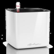 Lechuza Кашпо Cube Glossy, 17х17х16 см, белое блестящее, с системой автополива