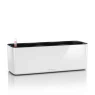 Lechuza Кашпо Cube Glossy Triple, 40х14х13.5 см, белое блестящее, с системой автополива