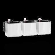 Lechuza Комплект Green Wall Home Kit Glossy, 48х15х14 см, белый блестящий, с системой автополива