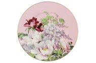 Anna Lafarg Тарелка десертная Райский сад, 19 см, розовая