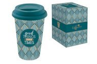 Easy Life (R2S) Кружка с крышкой Travel Mug (350 мл), зеленая, в подарочной упаковке