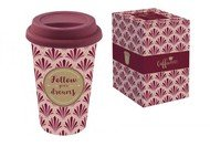 Easy Life (R2S) Кружка с крышкой Travel Mug (350 мл), бордо, в подарочной упаковке