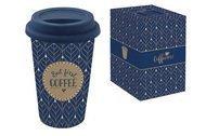 Easy Life (R2S) Кружка с крышкой Travel Mug (350 мл), синяя, в подарочной упаковке