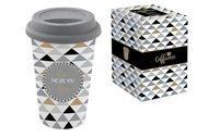 Easy Life (R2S) Кружка с крышкой Travel Mug (350 мл), серая, в подарочной упаковке