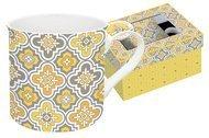 Easy Life (R2S) Кружка Цветовая палитра (300 мл), желтая, узор, в подарочной упаковке