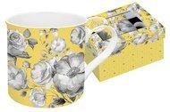 Easy Life (R2S) Кружка Цветовая палитра (300 мл), желтая, цветы, в подарочной упаковке