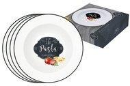 Easy Life (R2S) Набор тарелок для пасты Кухня в стиле Ретро, 22 см, 4 шт, в подарочной упаковке