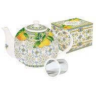 Easy Life (R2S) Чайник (1 л) с металлическим ситечком Капри, цитрус, в подарочной упаковке