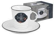 Easy Life (R2S) Чашка (300 мл) с блюдцем Кухня в стиле Ретро, кофе, в подарочной упаковке