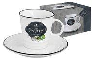 Easy Life (R2S) Чашка (300 мл) с блюдцем Кухня в стиле Ретро, чай, в подарочной упаковке