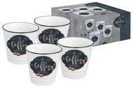 Easy Life (R2S) Набор чашек для кофе Кухня в стиле Ретро (100 мл), 4 шт, в подарочной упаковке