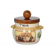 LCS Банка для чая с деревянной крышкой Натюрморт (0.5 л)