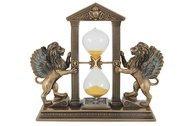 Veronese Часы песочные Львы, 18х7х17 см