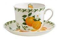Maxwell & Williams Чашка Апельсин (0.48 л) с блюдцем