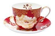 Maxwell & Williams Чашка Кимоно (0.48 л) с блюдцем, красная