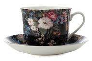 Maxwell & Williams Чашка Полночные цветы (0.48 л) с блюдцем