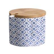 D'casa Сахарница с ложкой Bamboo (200 мл), синяя