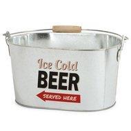Balvi Емкость для охлаждения пива Party Time, 30х16.5х20 см, серебряная