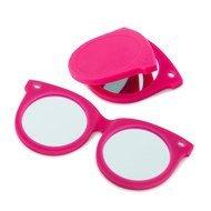 Balvi Зеркальце Shades, 7.5x6.8x0.6 см, розовое