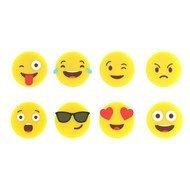 Balvi Маркеры для бокалов Emoji, 2х0.5 см, желтые, 8 шт.