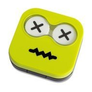Balvi Набор для контактных линз Emoji, 6.5х6.7х2 см, зеленый, 4 пр.