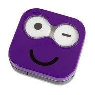 Balvi Набор для контактных линз Emoji, 6.5х6.7х2 см, фиолетовый, 4 пр.