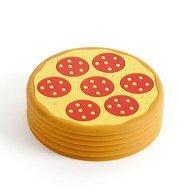 Balvi Подставка под стаканы Pizza, 7.7х0.4 см, желтая, 6 шт.