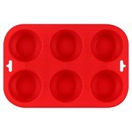 Guffman Форма для выпечки кексов Casa forno, 24.5х16.5х3 см, красная