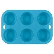 Guffman Форма для выпечки кексов Casa forno, 24.5х16.5х3 см, голубая