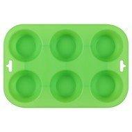 Guffman Форма для выпечки кексов Casa forno, 24.5х16.5х3 см, зеленая
