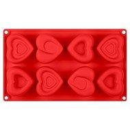 Guffman Форма для выпечки кексов Amore, 30х17.5х3.3 см, красная