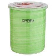 Guffman Банка Ceramics керамическая с крышкой, 10х12.5 см, зеленая