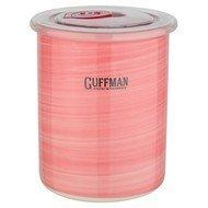Guffman Банка Ceramics керамическая с крышкой, 10х12.5 см, розовая