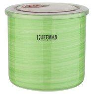 Guffman Банка Ceramics керамическая с крышкой, 13х12 см, зеленая