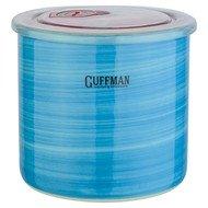 Guffman Банка Ceramics керамическая с крышкой, 13х12 см, голубая