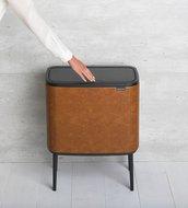 Brabantia Мусорный бак Bo Touch Bin (11 л и 23 л), 54х31.5х68 см, коньячный