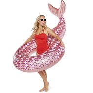 BigMouth Круг надувной Mermaid Rose Gold, 25х19х6.3 см
