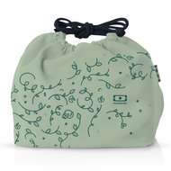 Monbento Мешочек для ланча MB Pochette english garden, 20х17х19 см, зеленый
