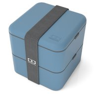 Monbento Ланч-бокс MB Square denim (1.7 л), 14.8х14.3х14.3 см, голубой