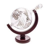 Balvi Декантер для виски Globe (0.8 л), 22х12.5х20.5 см, с деревянной подставкой