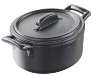 Revol Кокотница овальная Belle Cuisine (250 мл), 11х10х6.5 см, с крышкой, черная